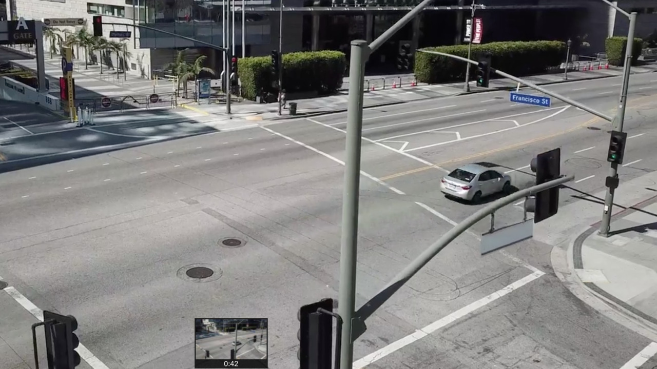Drone video shows downtown Los Angeles deserted amid coronavirus