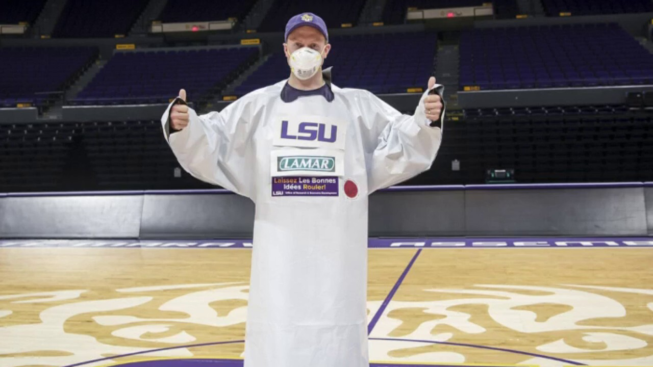 LSU making PPE for medical professionals fighting pandemic