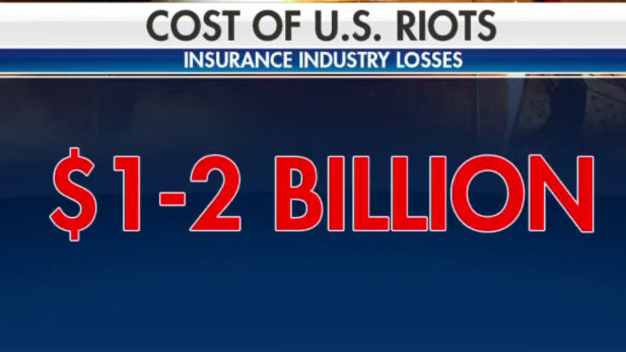 Axios reports riot damage is the most costly in history.