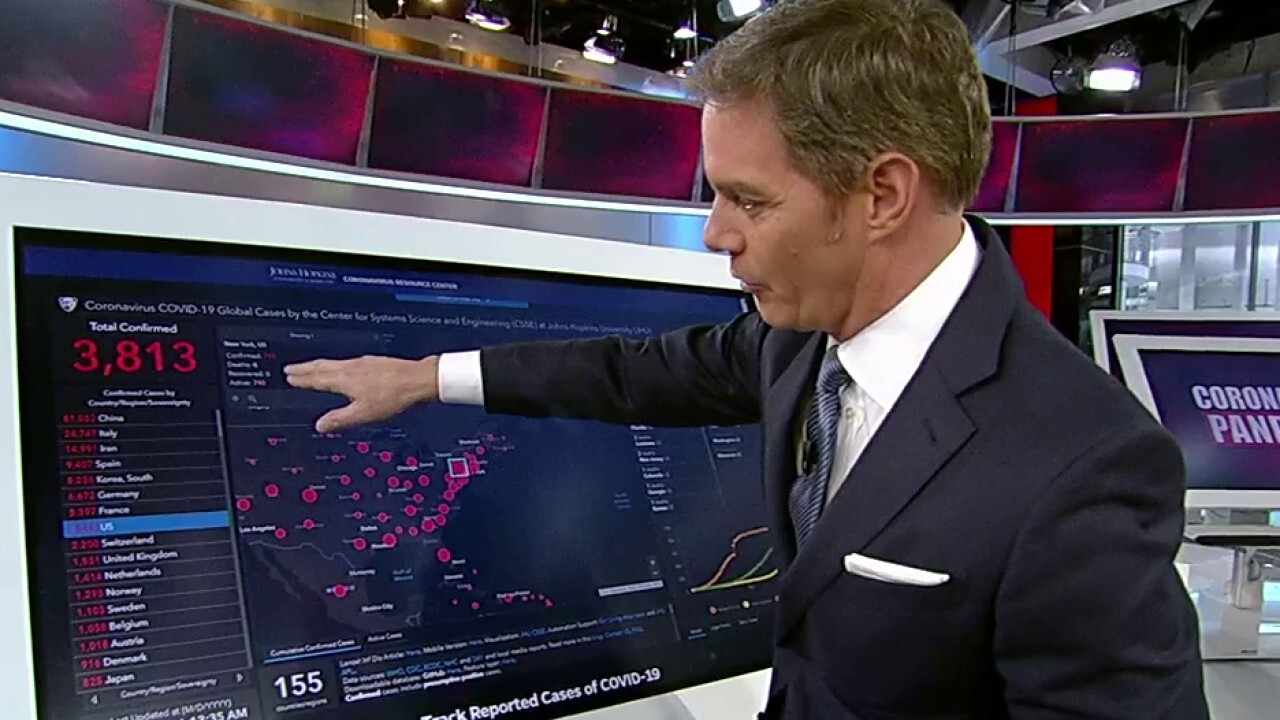 Bill Hemmer tracks real-time COVID-19 global case numbers