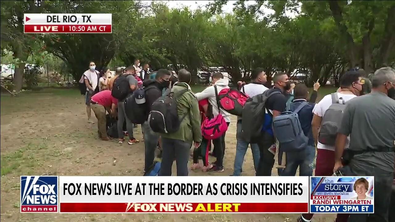 Migrants cross border as crisis intensifies