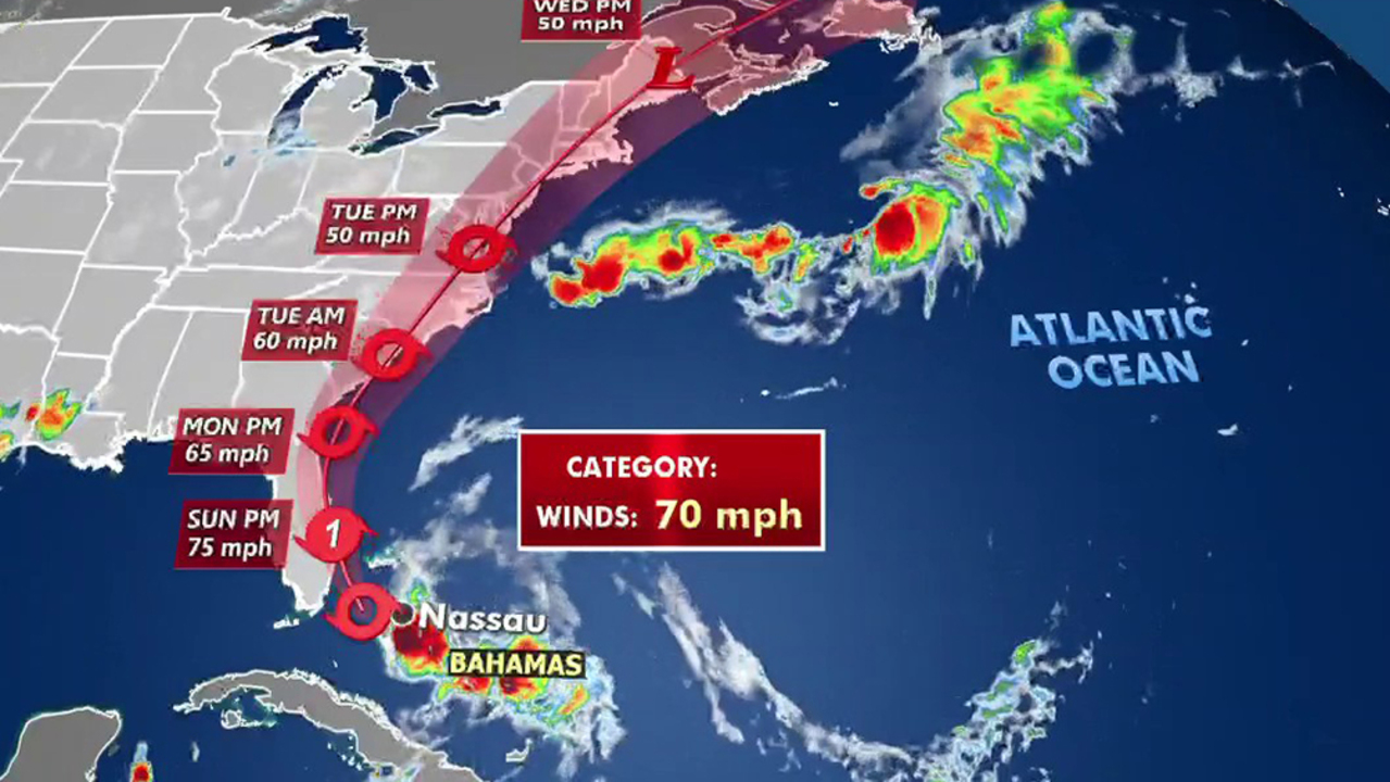 Isaias downgraded to tropical storm as it nears Florida coast
