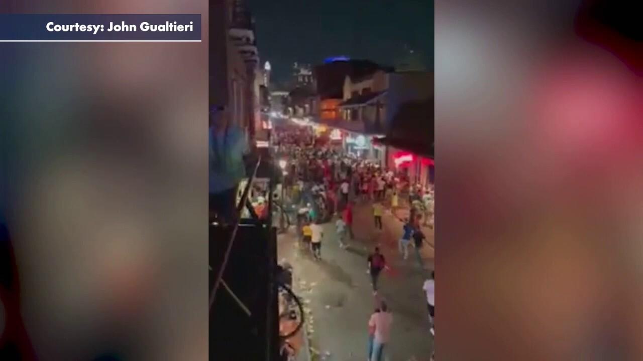 New Orleans crowds flee Bourbon Street shooting