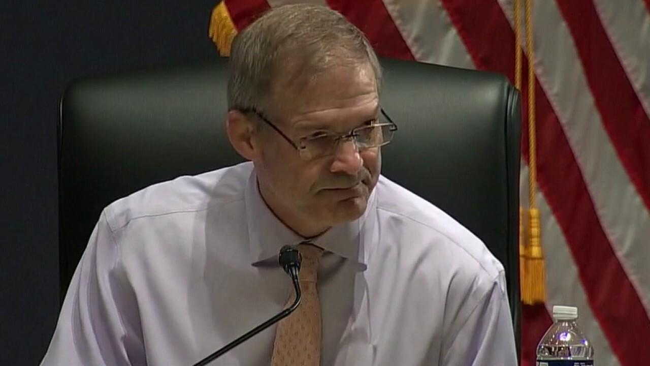 Rep. Jim Jordan tells AG Garland Americans 'fear their government'