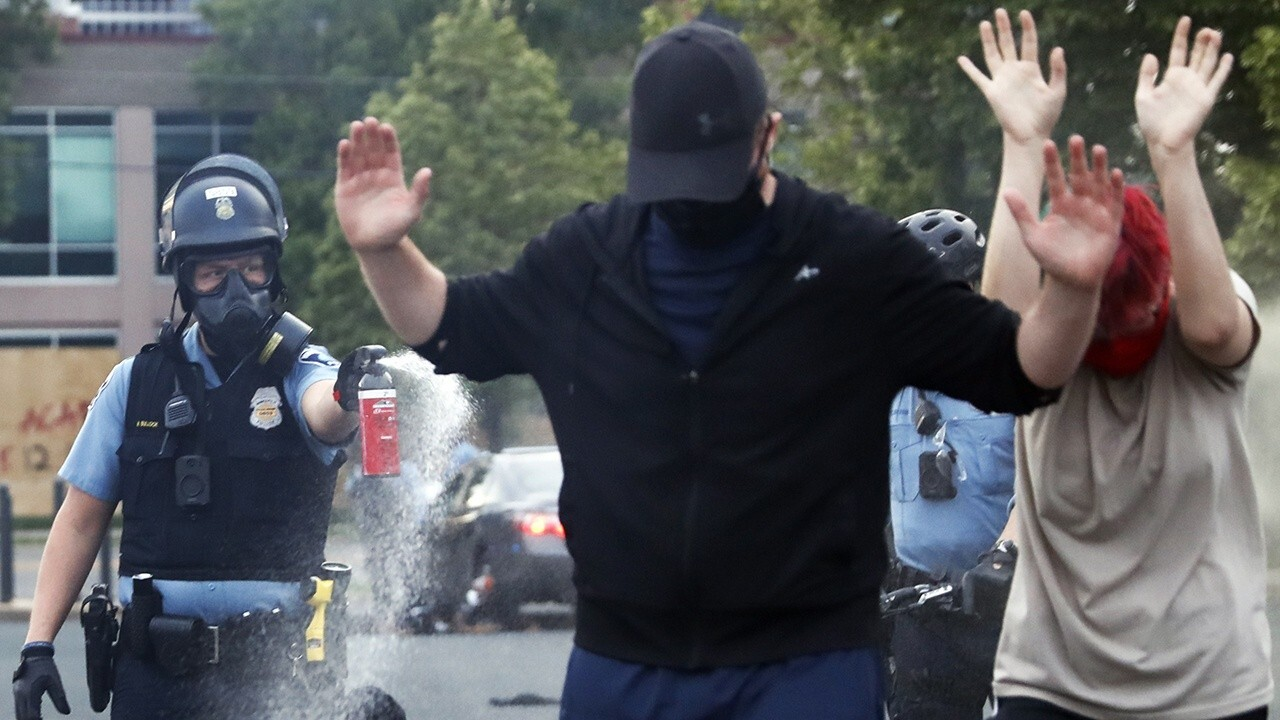 How do peaceful protests become violent with people destroying their own cities?