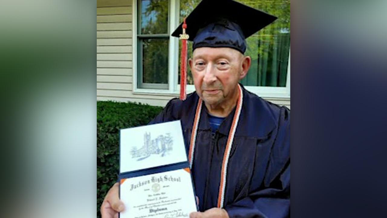87-year-old Korean War veteran finally graduates from high school