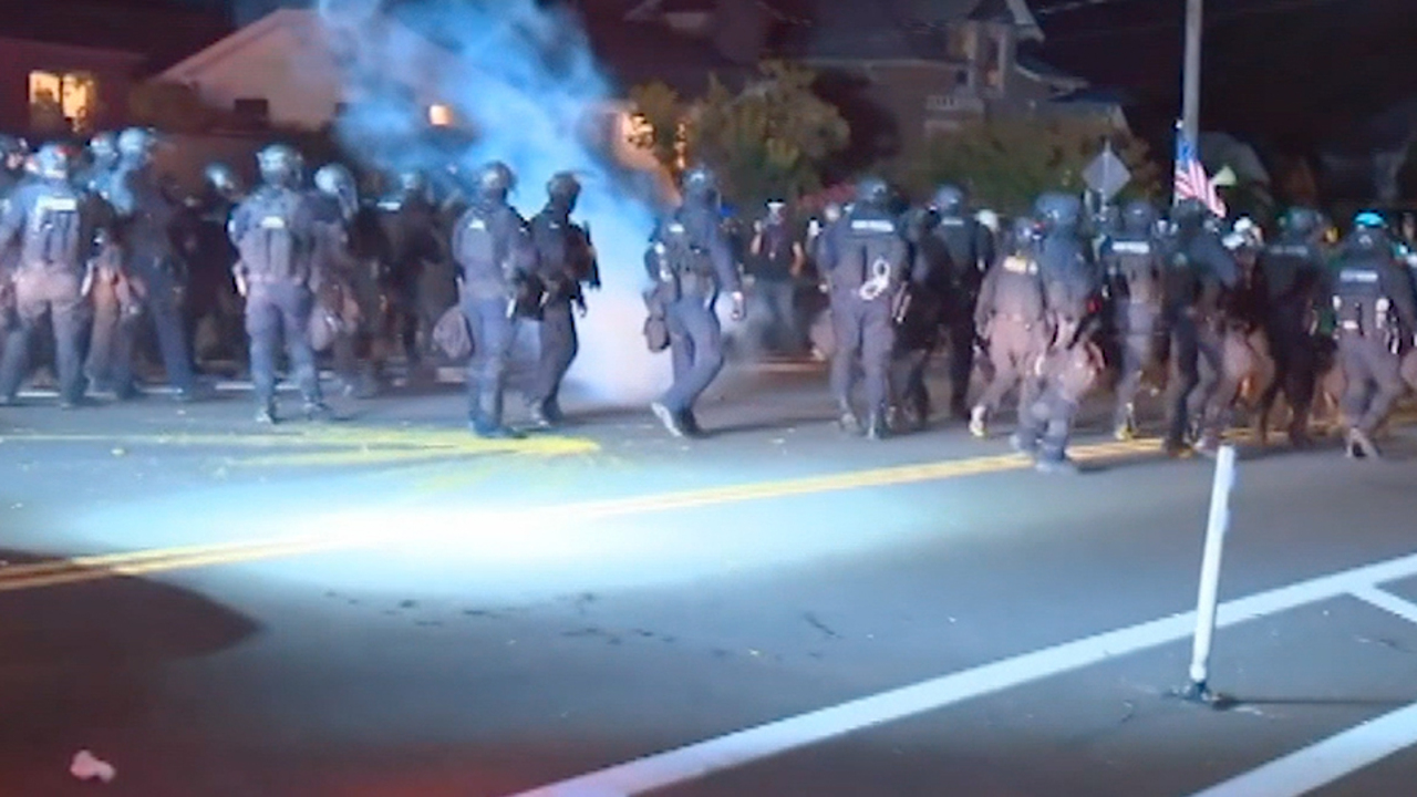Portland protest turns violent