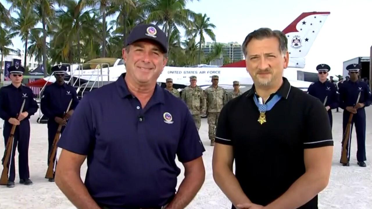 Hyundai honors fallen heroes with Miami Beach air, sea show