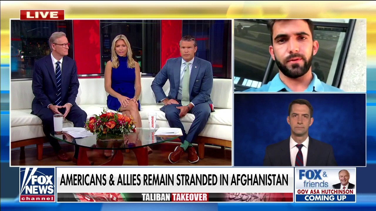 Tom Cotton on American stranded in Afghanistan lands in DC