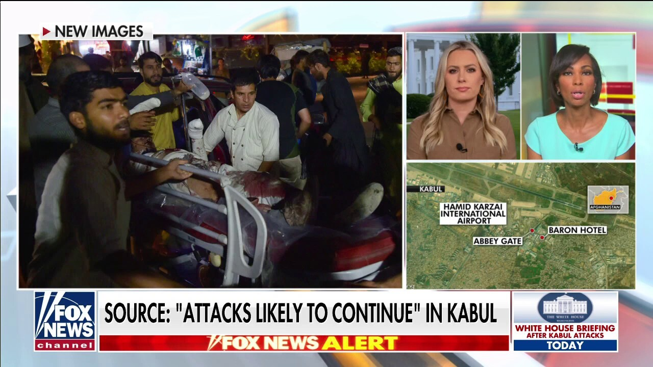 Harris Faulkner reacts to pictures from Kabul attack