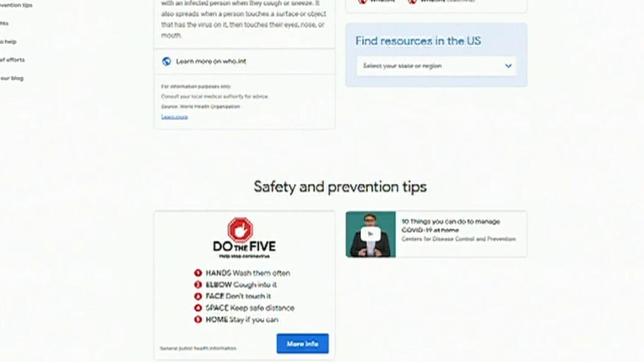 Google launches new coronavirus website