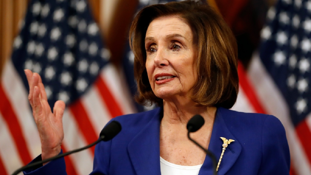 Pelosi blames Trump on virus