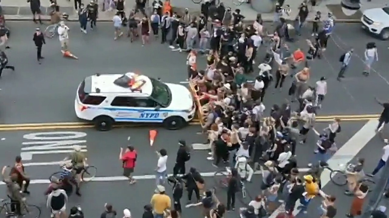 NYPD officers attacked with Molotov, one arrested during George Floyd protest