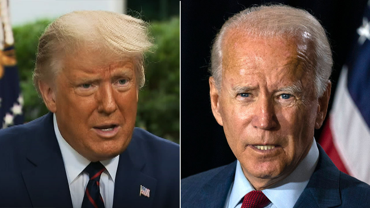 Trump explains preparations for upcoming debate with former VP Biden