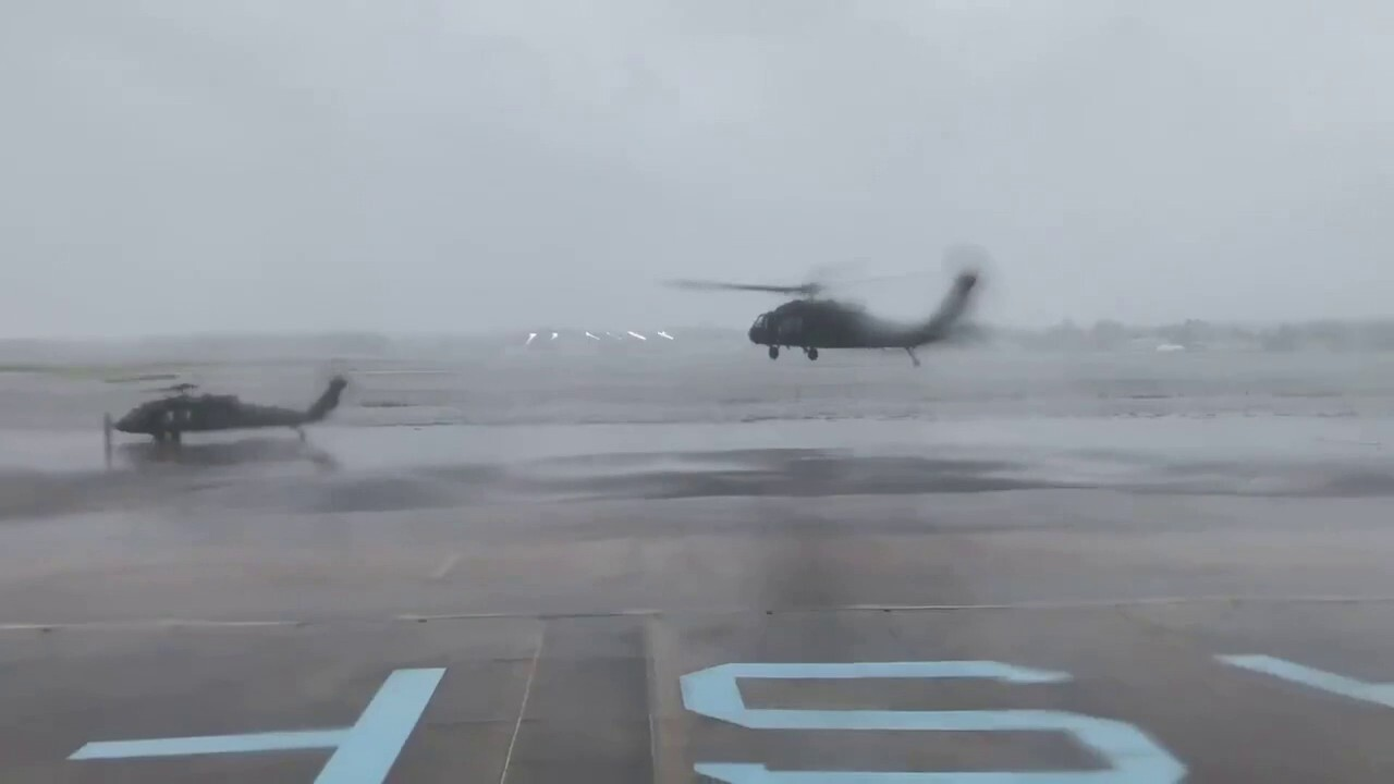 Black Hawks take off in Louisiana to begin Hurricane Ida search and rescue missions