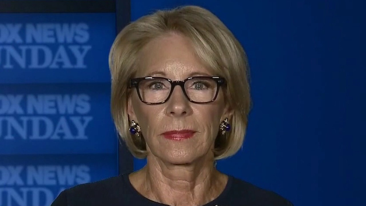 Secretary Betsy DeVos on the challenge of reopening America's schools amid the coronavirus pandemic