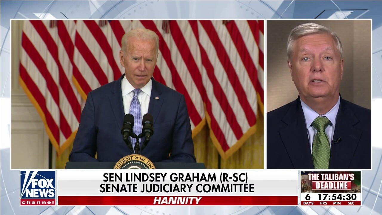 Lindsey Graham: 'Biden is signing the death warrant of thousands of Afghans who helped us'