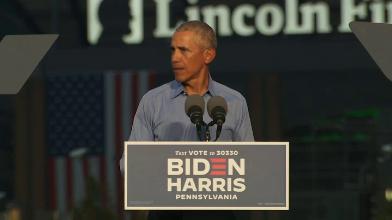 Obama stumps for Biden in Miami as both campaigns make final push for  Florida | Fox News