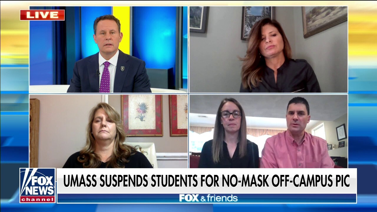 UMass Amherst parents 'devastated' following student suspension over maskless, off-campus party photo
