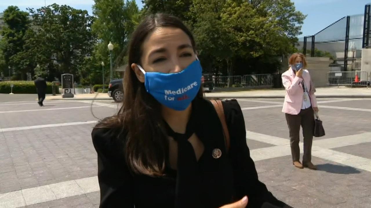 Congresswoman Ocasio-Cortez discusses $3 trillion the House of Representatives bill