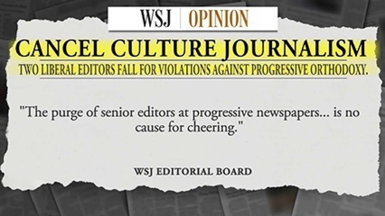 'Cancel culture journalism' called out after top editors resign from big papers