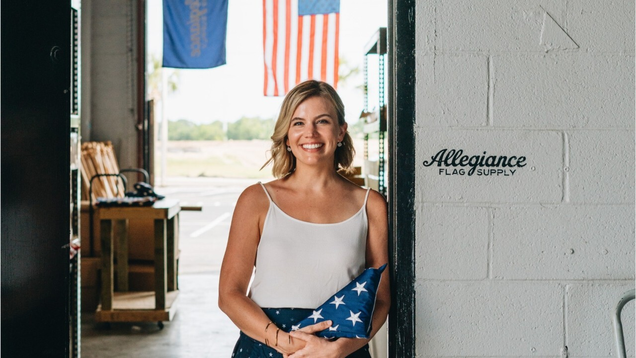 Katie Lyon, Wes Lyon and Max Berry founded Allegiance Flag Supply in 2018 after realizing there was a void of high-quality American-made American flags on the market.