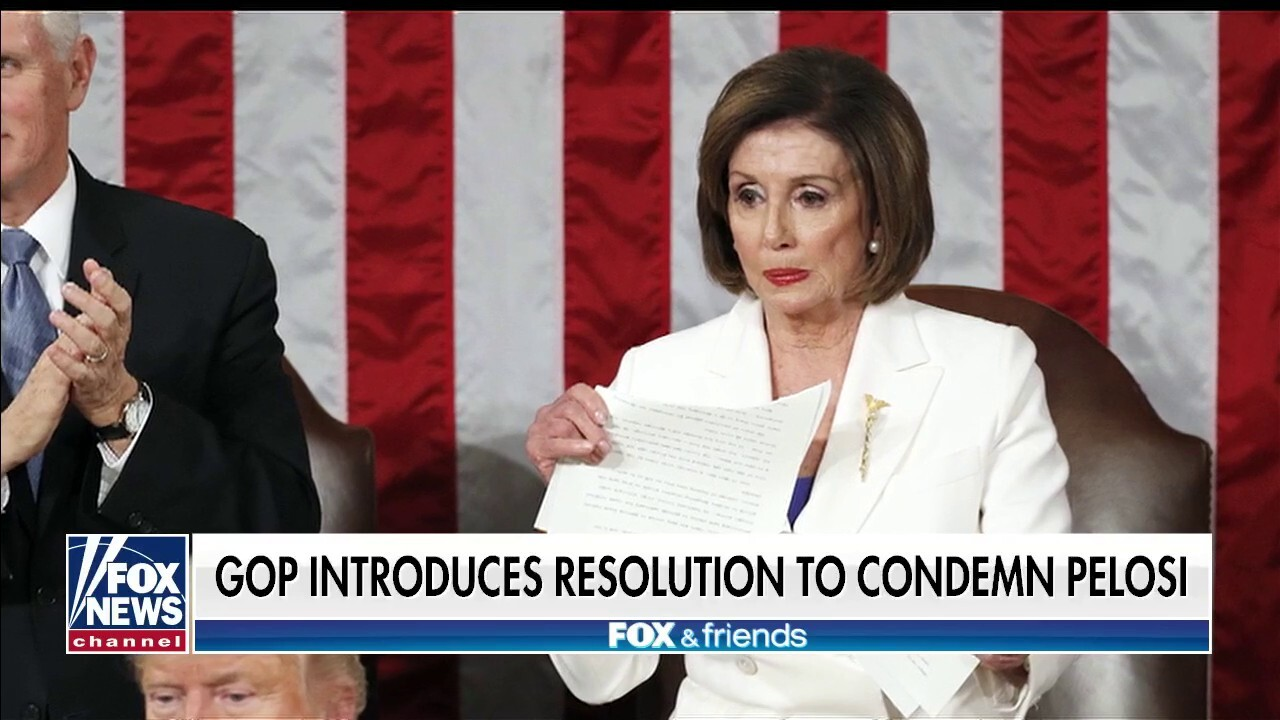 'Fox & Friends' on Nancy Pelosi's attempt to 'mind meld with AOC' at SOTU