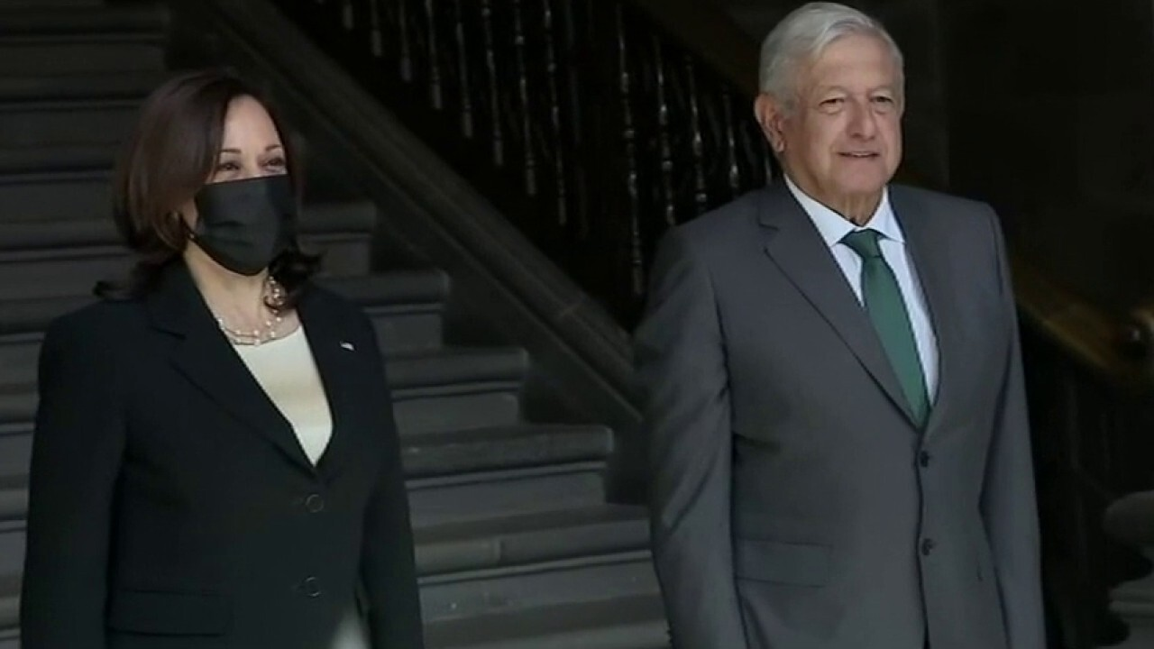 VP Harris meets with Mexico president as border crossings hit decade high