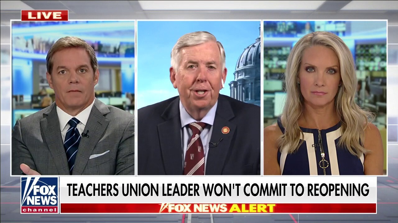 Missouri governor hits back at teachers union leader's noncommittal answer on opening schools