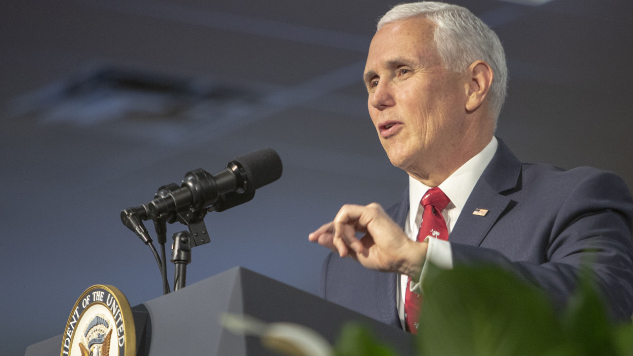 Pence delivers remarks at Faith in America tour
