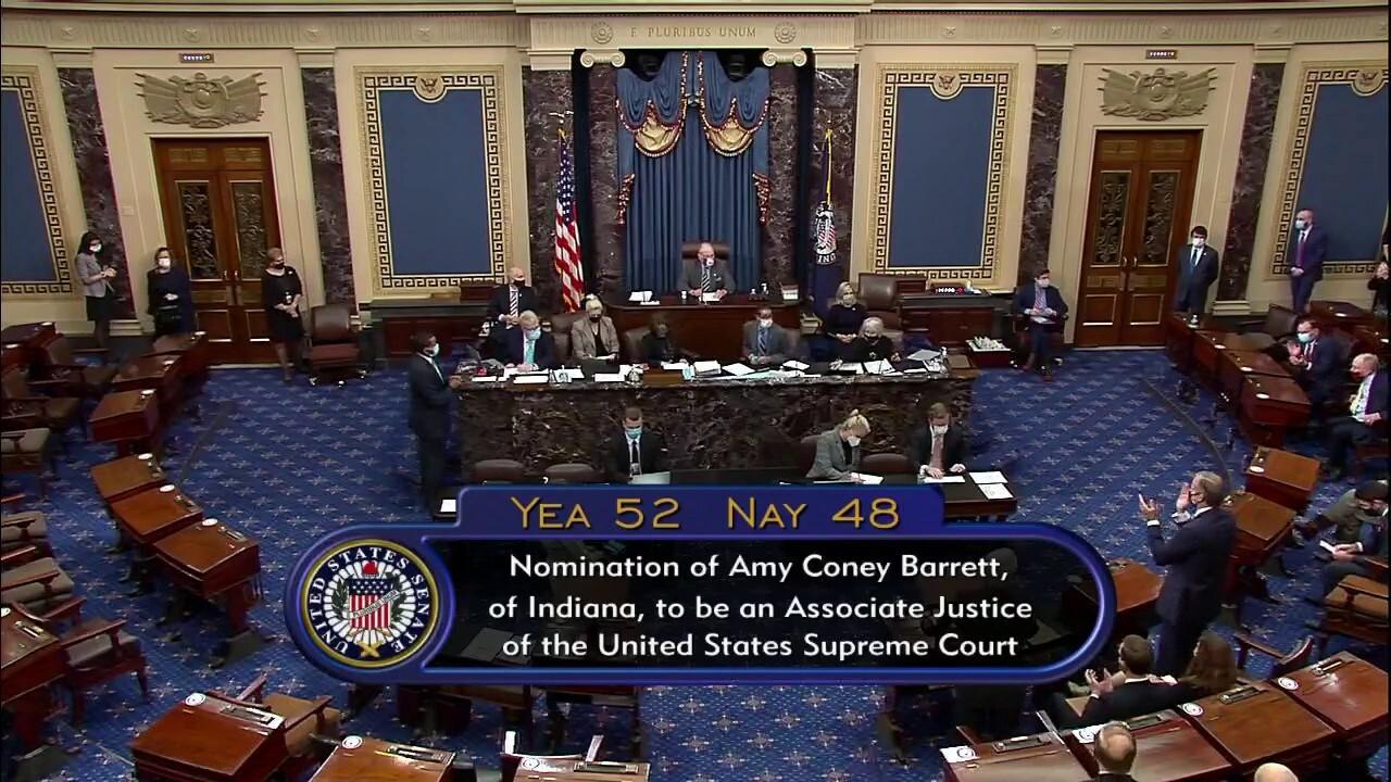 Senate vote confirms Amy Coney Barrett as Supreme Court Justice