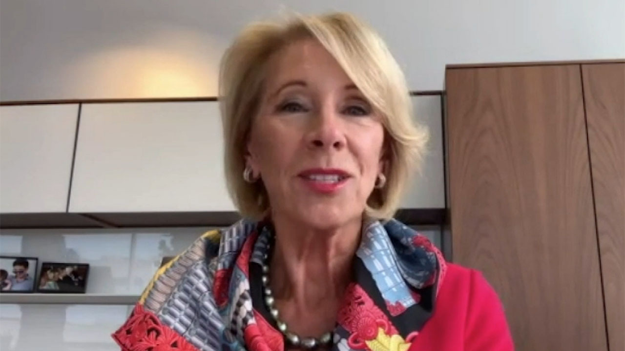 Betsy DeVos shares her concerns about schools failing to reopen for in-person learning