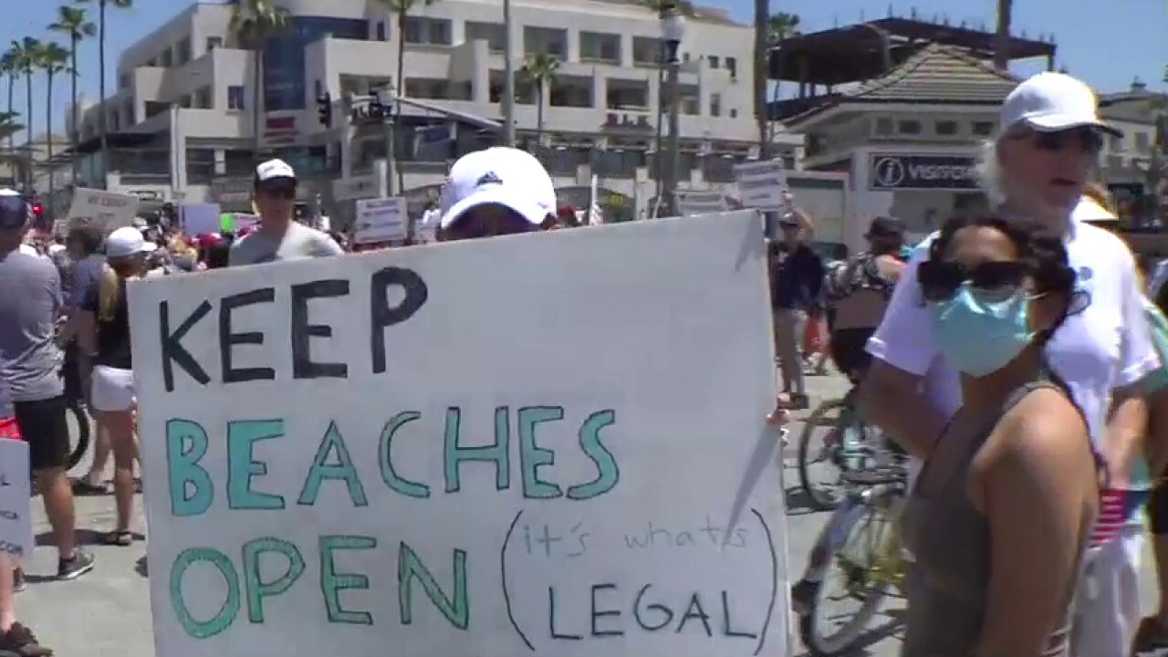 California residents call on governor to reopen beaches