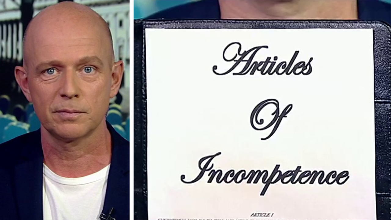 Westlake Legal Group image Steve Hilton signs 'Articles of Incompetence' against Dems, Pelosi: 'I can send you the pen' Yael Halon fox-news/politics/trump-impeachment-inquiry fox-news/politics/house-of-representatives/democrats fox-news/politics/2020-presidential-election fox-news/person/nancy-pelosi fox-news/person/elizabeth-warren fox-news/media/fox-news-flash fox news fnc/media fnc article 49b04d39-749b-5692-adea-748085d3c1e8