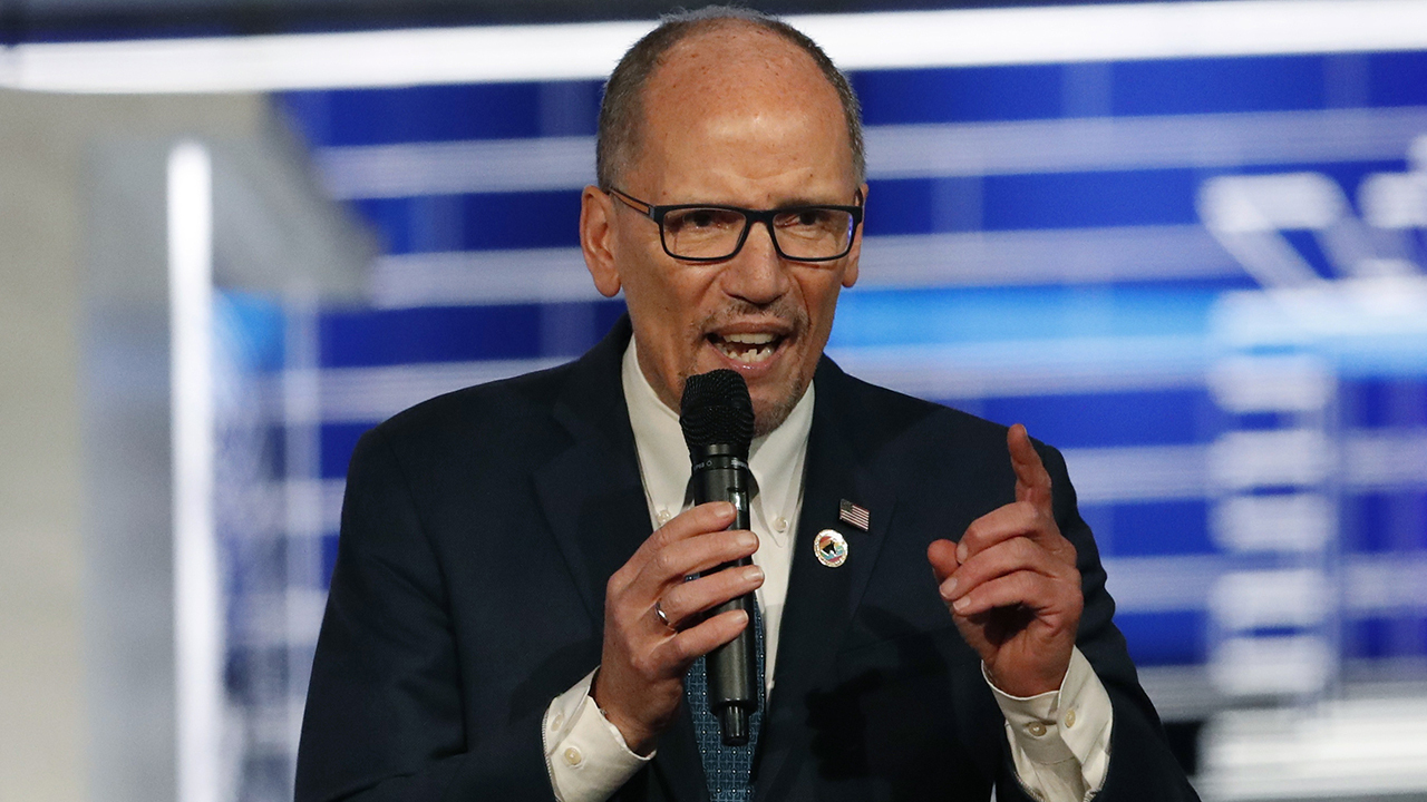 DNC chairman Perez downplays caucus reporting concerns: 'We're in great shape'