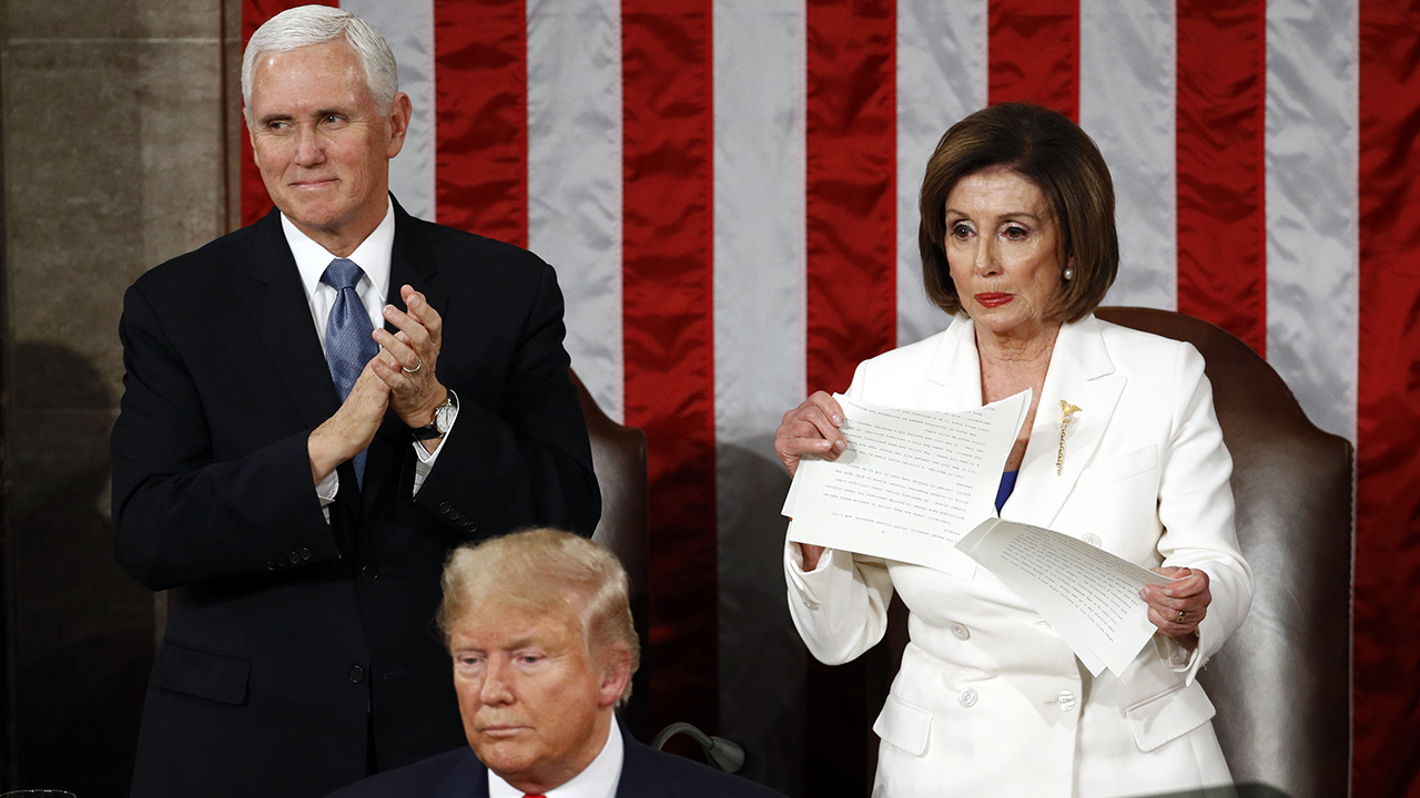 Westlake Legal Group image GOP introduces resolution to condemn Pelosi for ripping up Trump's State of the Union speech fox-news/politics/house-of-representatives fox-news/person/nancy-pelosi fox-news/person/donald-trump fox-news/news-events/state-of-the-union fox news fnc/politics fnc article Andrew O'Reilly 5a4caf15-ce08-5265-b0c4-ea54d6113040