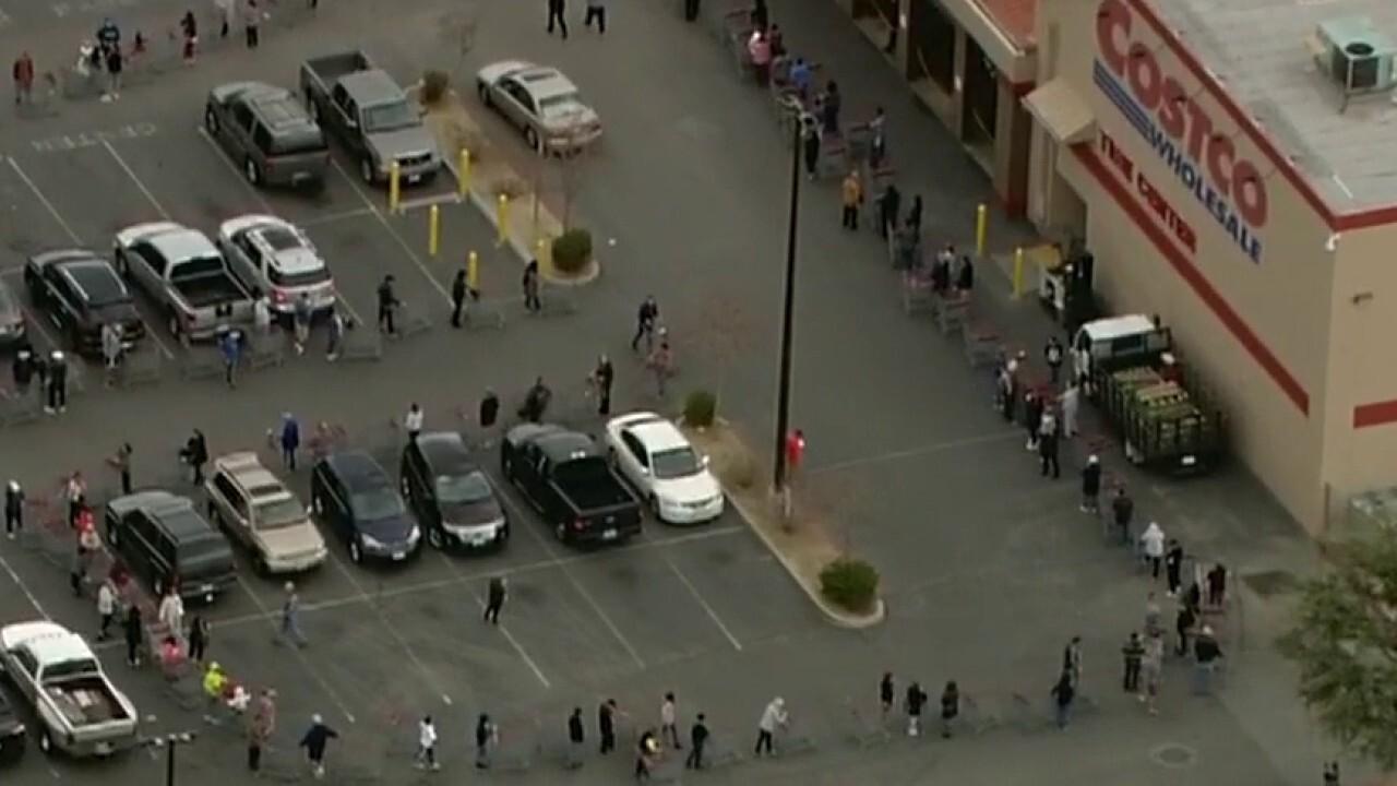 Coronavirus pandemic sparks shopping rush