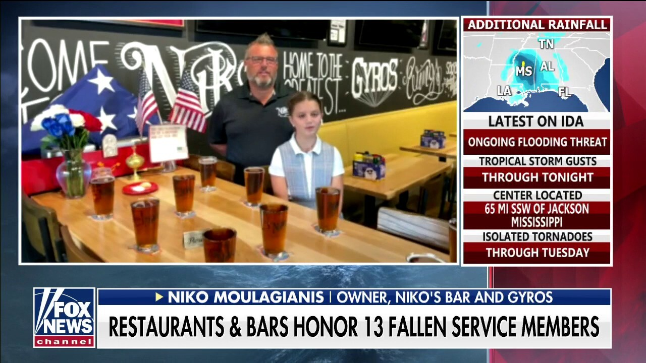 Ohio bar owner pays tribute to 13 fallen US service members