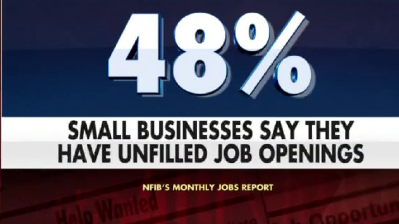 Nearly half of Indiana small businesses say they're having trouble filling job openings