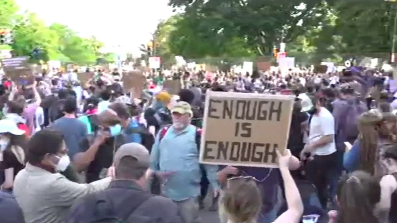 Protests continue near White House