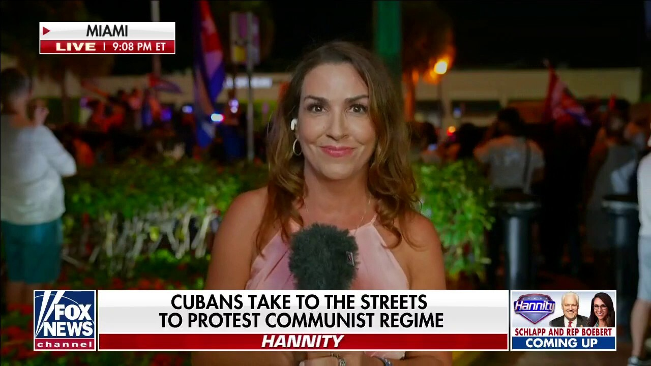 Sara Carter reports live from Calle Ocho as Cuban-Americans rally