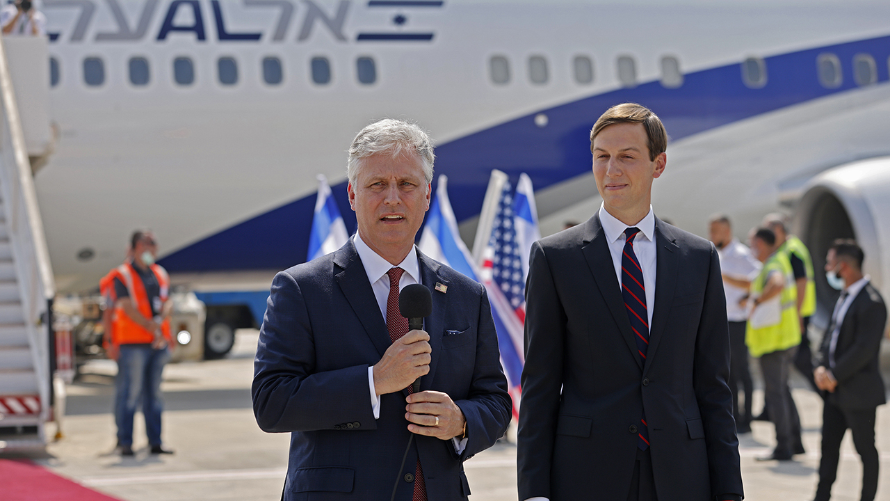 Kushner, Israeli officials take first commercial flight from Israel to UAE