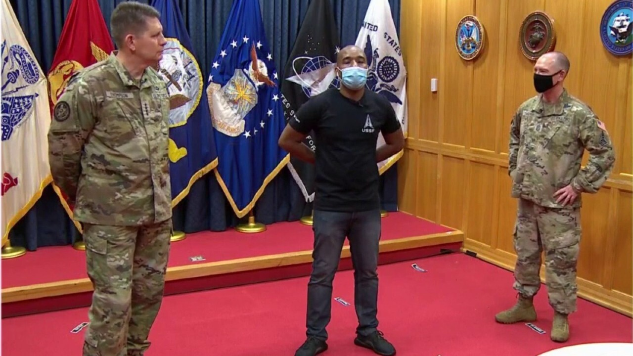 First recruits sworn into US Space Force