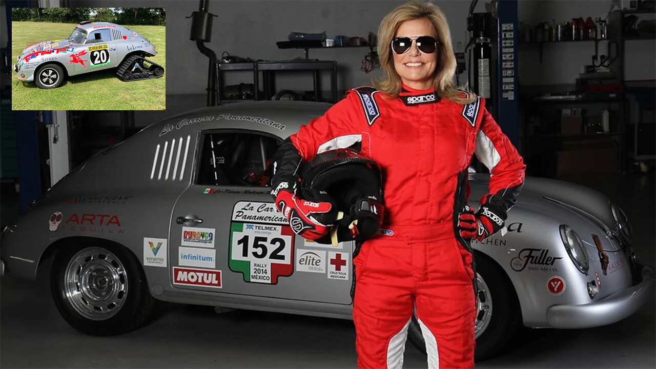 64-yr-old mom taking 1956 Porsche 356A to Antarctica to help fight child trafficking