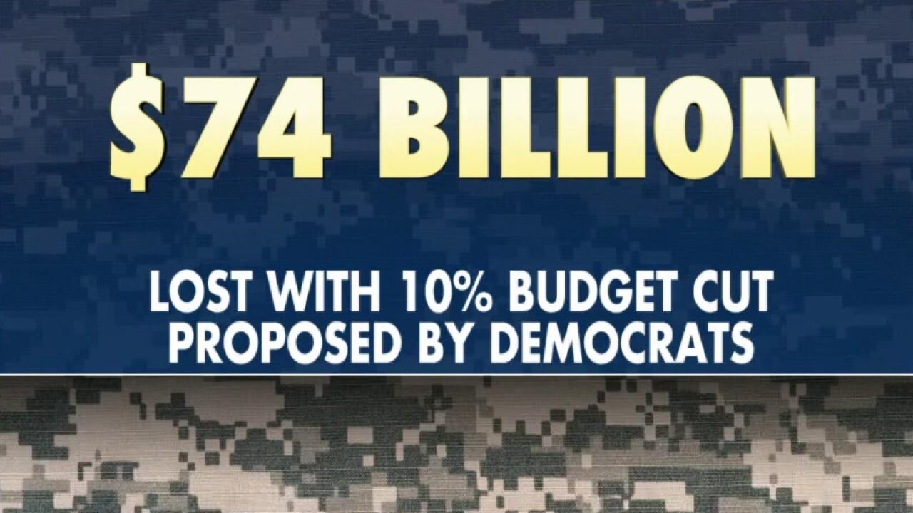 Far-left Democrats renew push to make steep cuts to defense budget