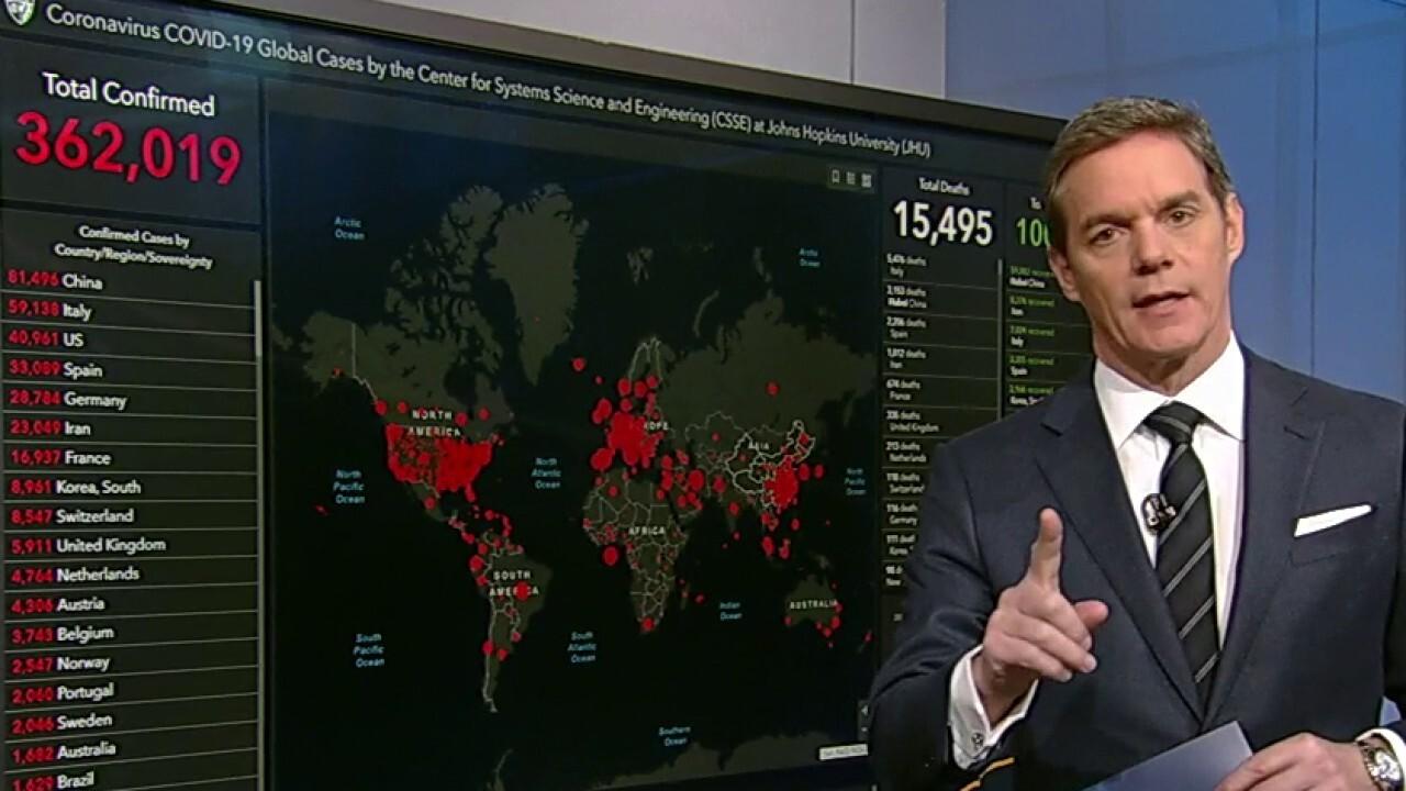 Bill Hemmer breaks down the coronavirus numbers around the world