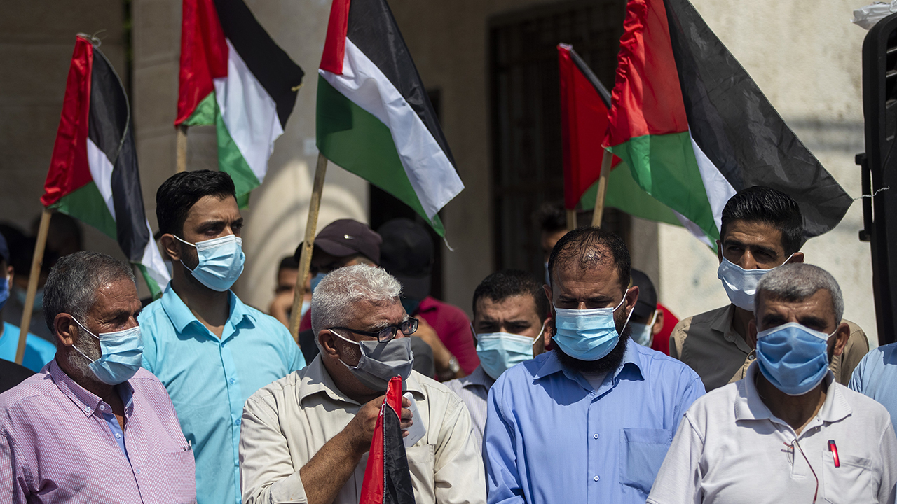 Palestinians protest against Israel, Bahrain, UAE agreement