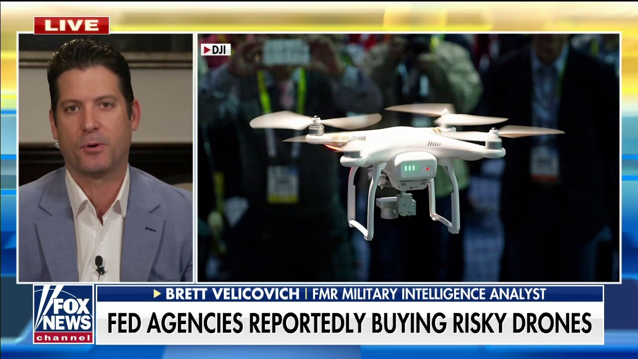 Former military intelligence analyst Brett Velicovich on federal agencies buying Chinese drones.