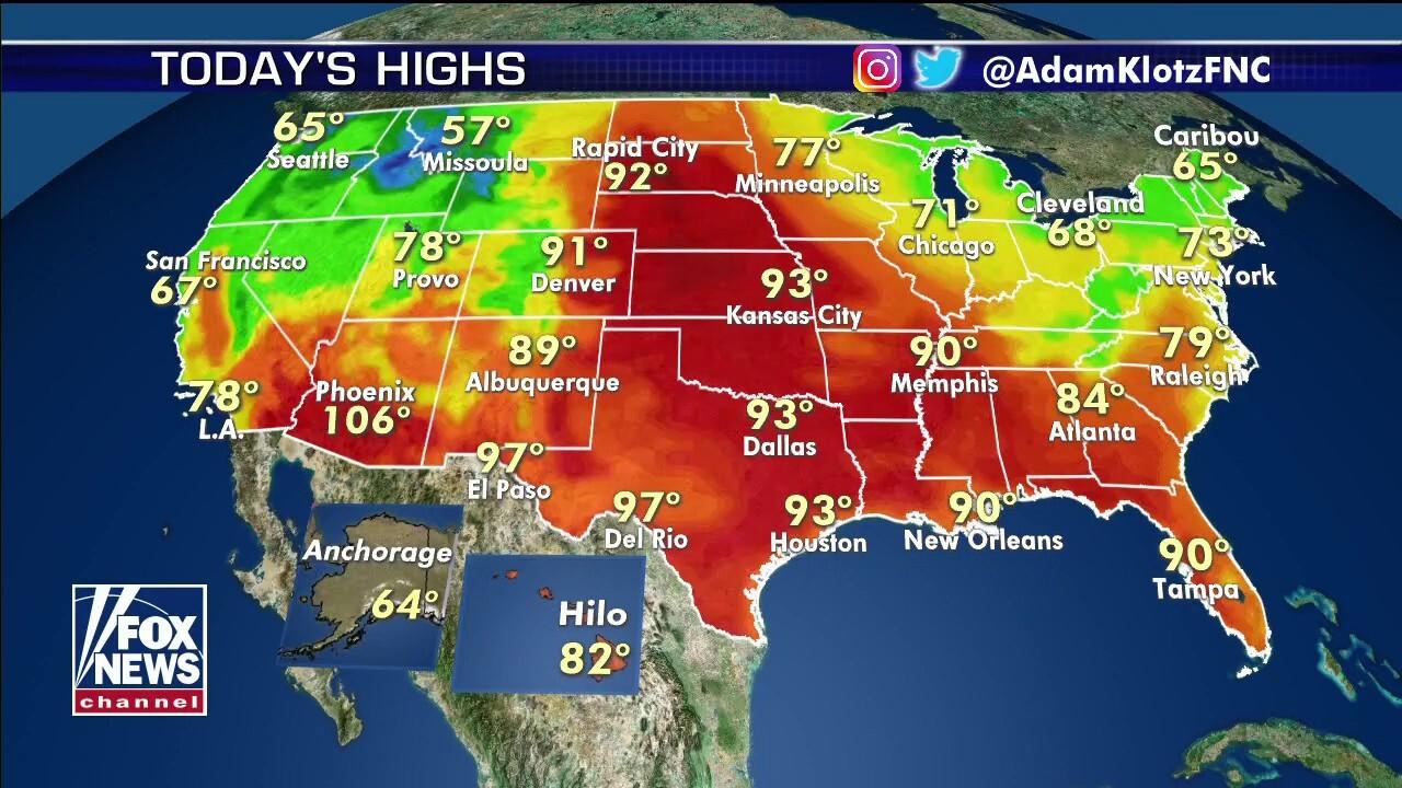 National forecast for Sunday, June 14