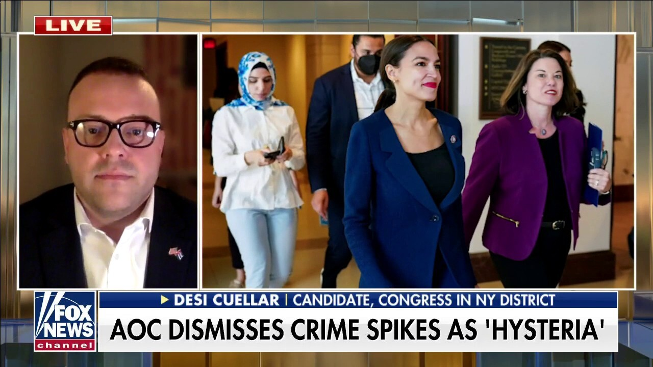 Veteran challenging AOC for House seat, slams her 'disgraceful' remark on rising NYC crime